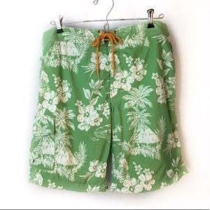 New Vintage J.Crew Board Shorts Sz 30 Hawaiian